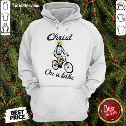 Official Christ On A Bike Lord Risen Jesus God Church Hoodie- Design By Handstee.com