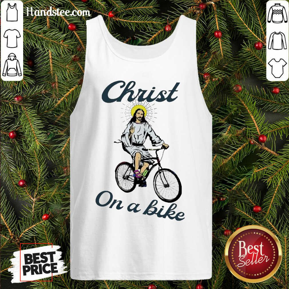 Official Christ On A Bike Lord Risen Jesus God Church Tank-Top- Design By Handstee.com