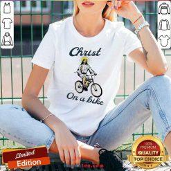 Official Christ On A Bike Lord Risen Jesus God Church V-neck- Design By Handstee.com