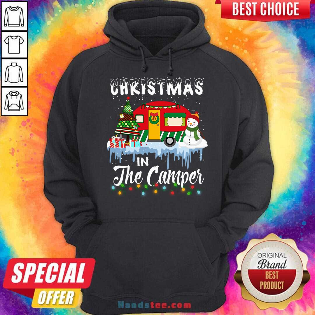 Christmas In The Camper Family Cute Funny Tee Camping Lover Xmas Trip Hoodie- Design By Handstee.com