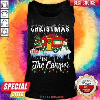 Christmas In The Camper Family Cute Funny Tee Camping Lover Xmas Trip Tank-Top- Design By Handstee.com