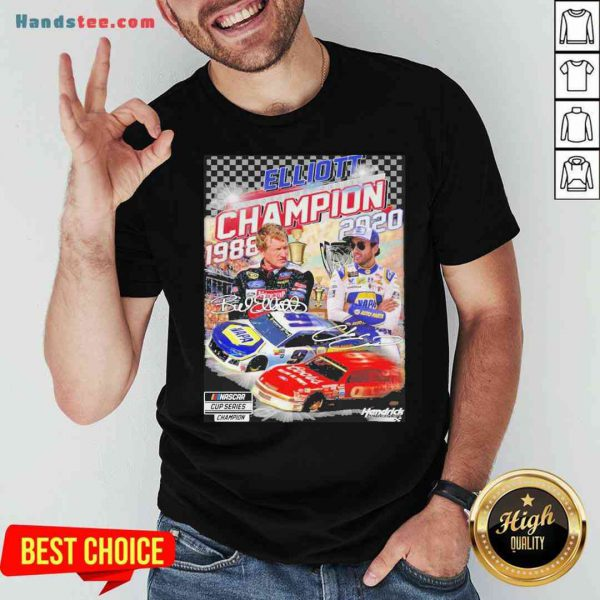 Official Elliott Champion 1988 2020 Hendrick Signatures Shirt- Design By Proposetees.com