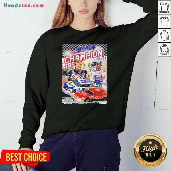 Official Elliott Champion 1988 2020 Hendrick Signatures Sweatshirt- Design By Proposetees.com