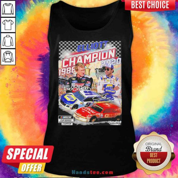 Official Elliott Champion 1988 2020 Hendrick Signatures Tank-Top- Design By Proposetees.com