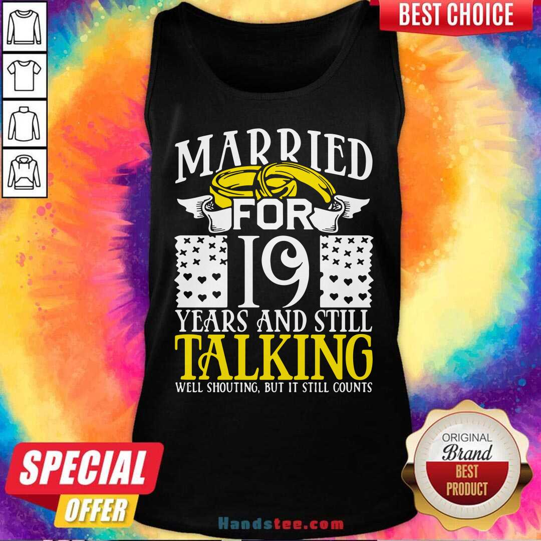 19th Wedding Anniversary For Wife Her Marriage Tank-Top- Design By Handstee.com