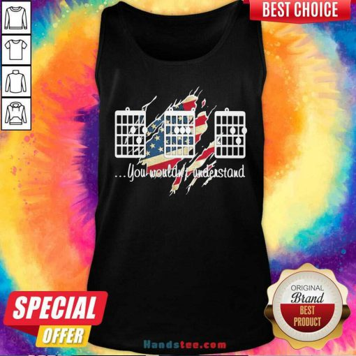 Original Guitar Chords You Wouldn't Understand American Flag Tank-Top- Design By Handstee.com