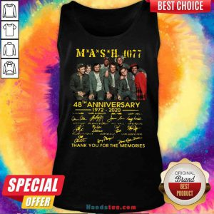 Original MASH 4077 48th Anniversary Signatures Thank You For The Memories Tank-Top- Design By Proposetees.com