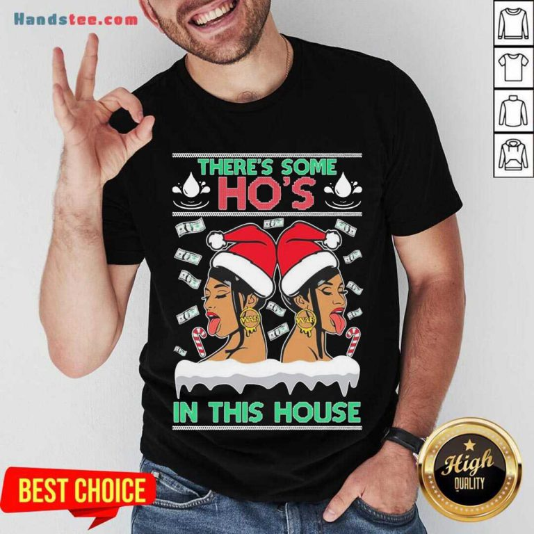 Ugly Christmas Sweater WAP There's Some Hos In This House Unisex Shirt- Design By Handstee.com