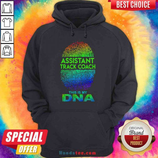 Perfect Assistant Track Coach This Is My Dna Fingerprints Hoodie- Design By Proposetees.com