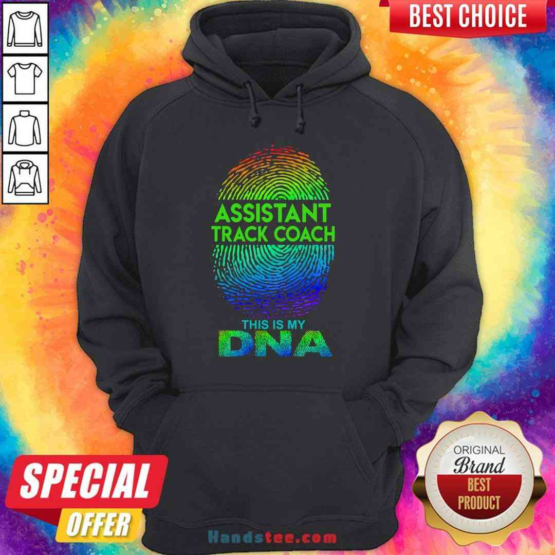 Perfect Assistant Track Coach This Is My Dna Fingerprints Hoodie- Design By Handstee.com