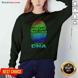 Perfect Assistant Track Coach This Is My Dna Fingerprints Sweatshirt- Design By Proposetees.com