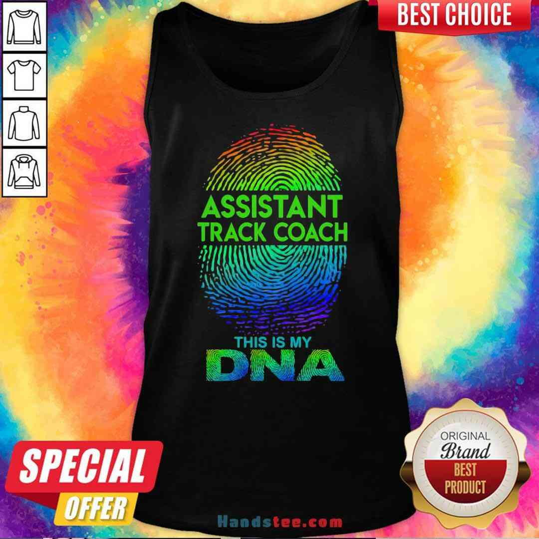 Perfect Assistant Track Coach This Is My Dna Fingerprints Tank-Top- Design By Handstee.com