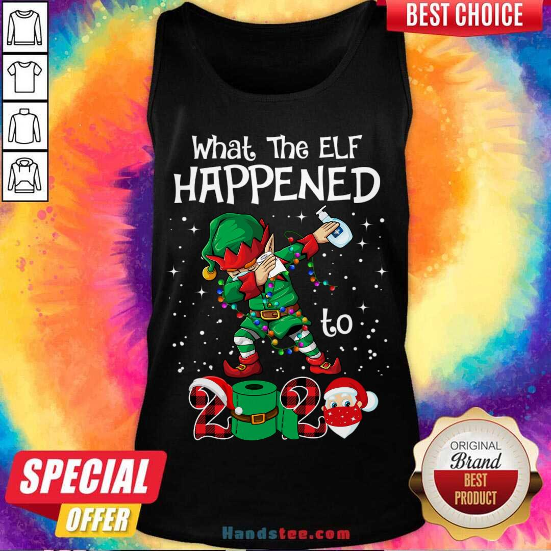Christmas 2020 Elf What The Elf Happened To 2020 Xmas Tank-Top- Design By Handstee.com