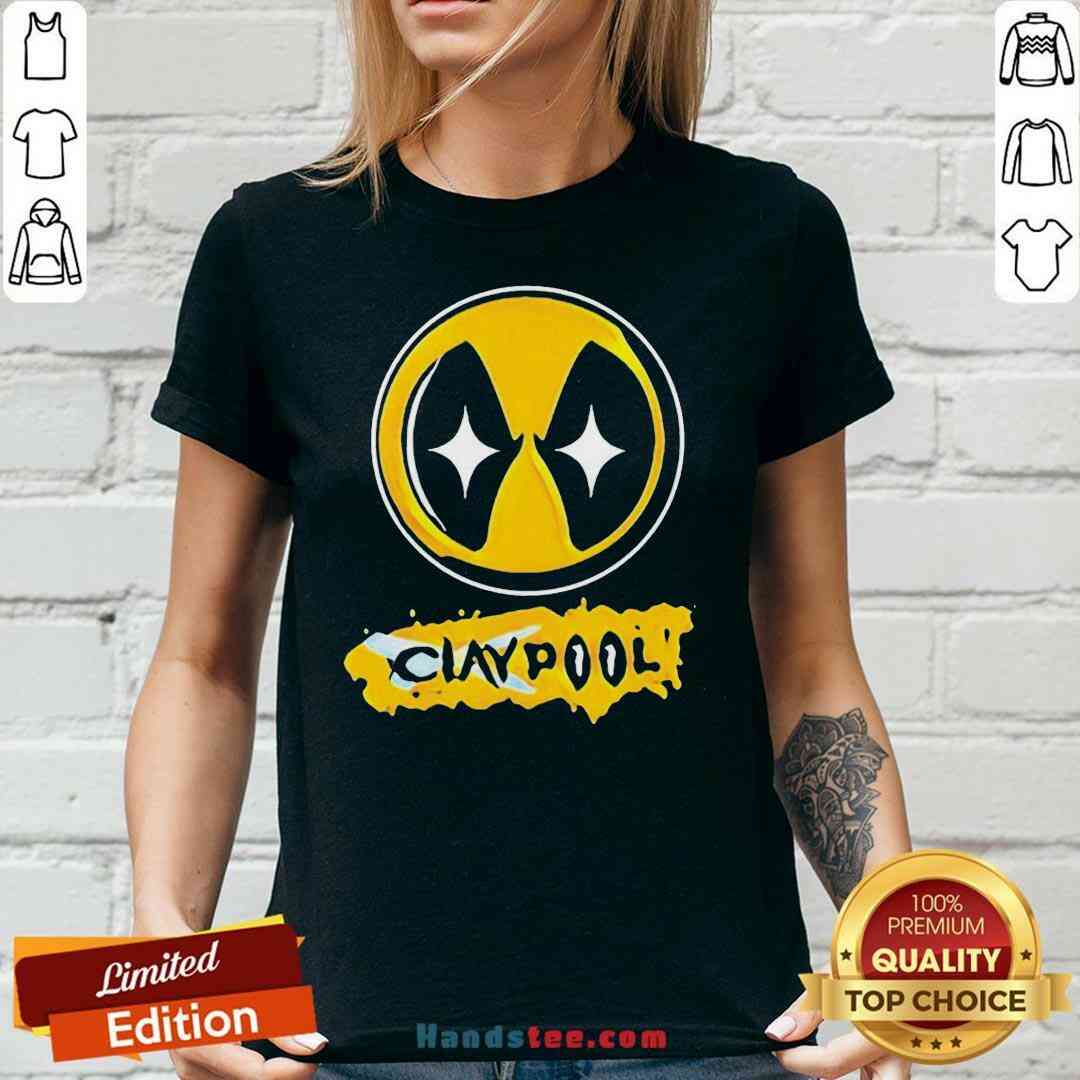 Perfect Claypool Pittsburgh Steeler V-neck- Design By Handstee.com