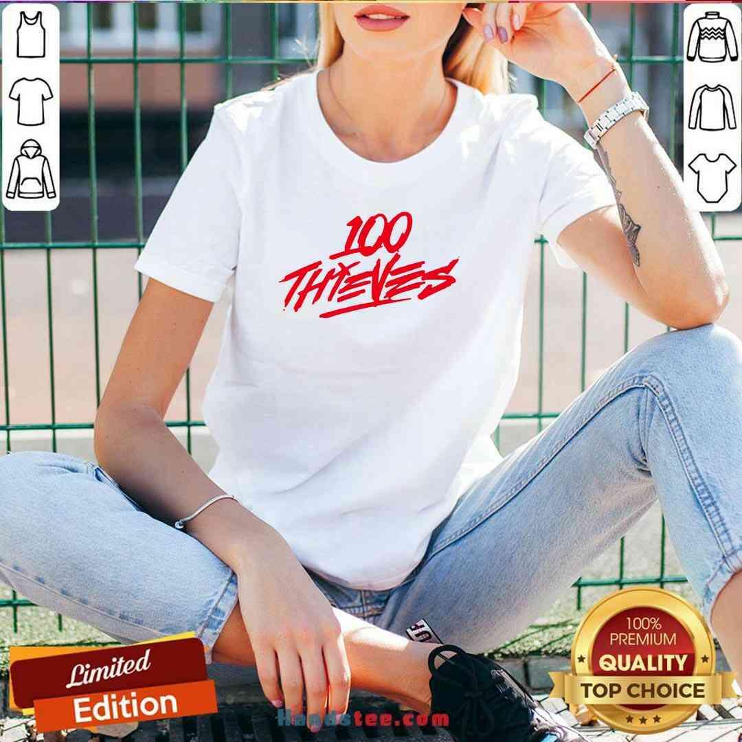 Perfect Los Angeles 100 Thieves 2020 Logo V-neck- Design By Handstee.com