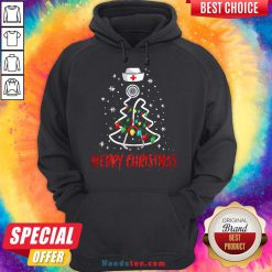 Perfect Merry Christmas Nurse Shirt Stethoscope Tree Lights Gift Hoodie- Design By Handstee.com