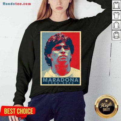 Retro Vintage Maradona 1960-2020 Sweatshirt- Design By Handstee.com