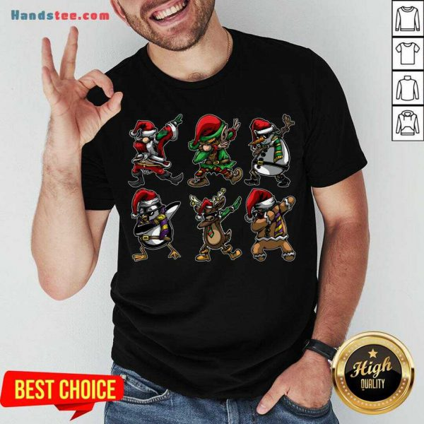 Perfect Santa Daabing with Friends Christmas Gift T-Shirt- Design By Handstee.com