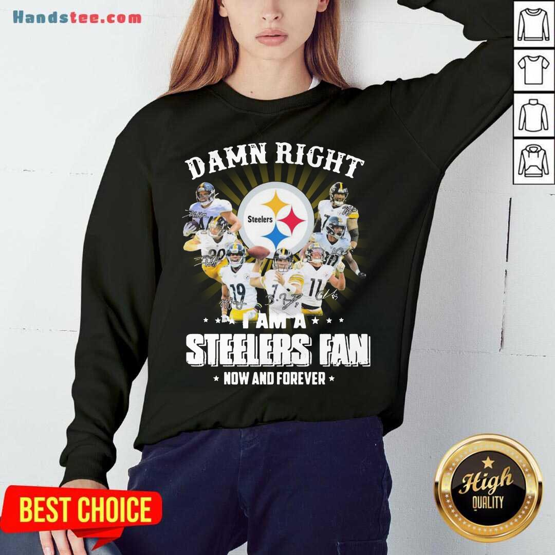 So Damn Right I Am A Pittsburgh Steelers Fan Now And Forever Signature Sweatshirt- Design By Handstee.com