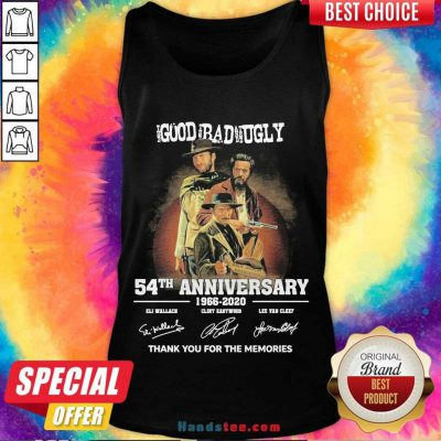 Perfect The Good The Bad The Ugly 54Th Anniversary 1966-2020 Thank You For The Memories Signatures Tank Top- Design By Handstee.com