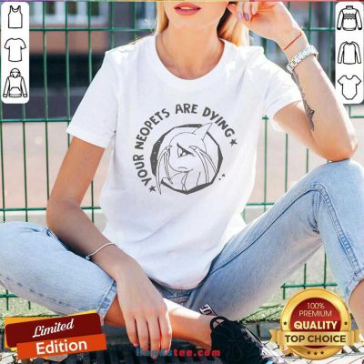 Your Neopets Are Dying V-neck- Design By Handstee.com