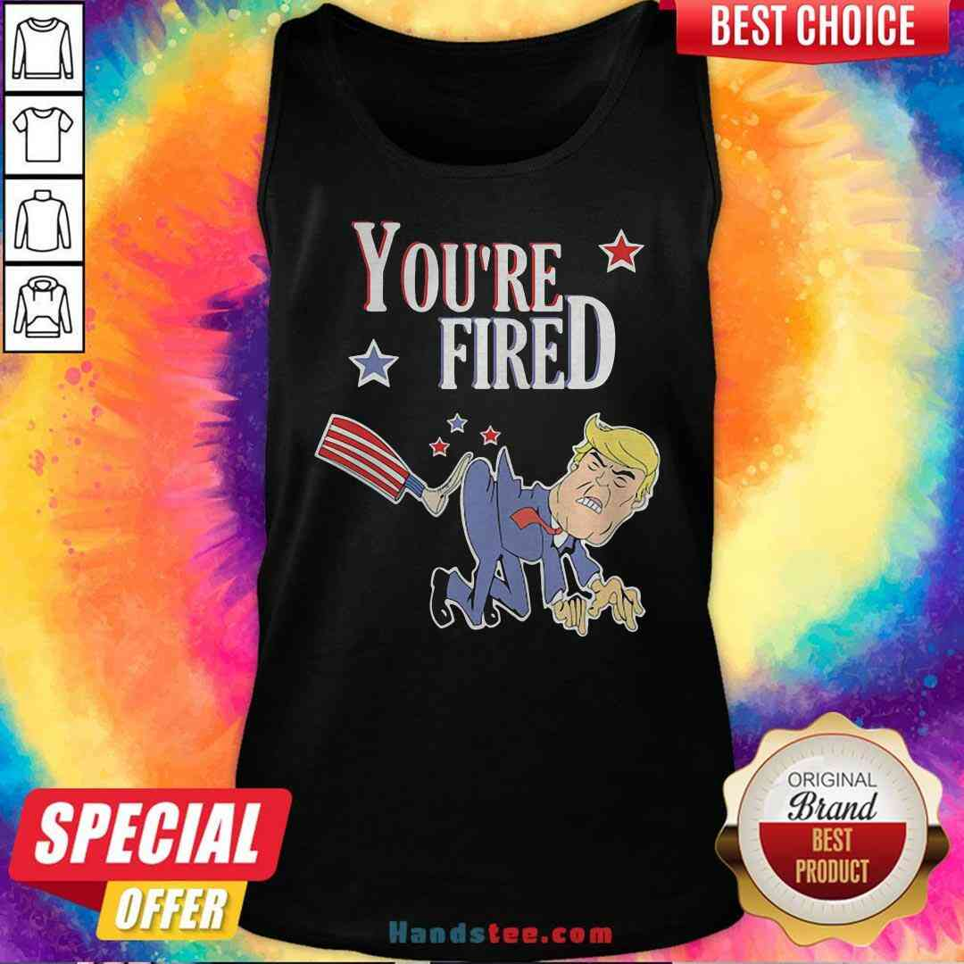 Perfect You're Fired Donald Trump American Flag Tank-Top- Design By Handstee.com