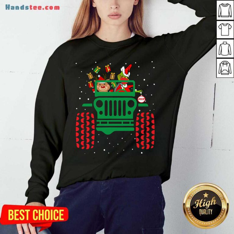 Grinch Wearing Face Mask Ugly Christmas Gift Sweatshirt- Design By Handstee.com