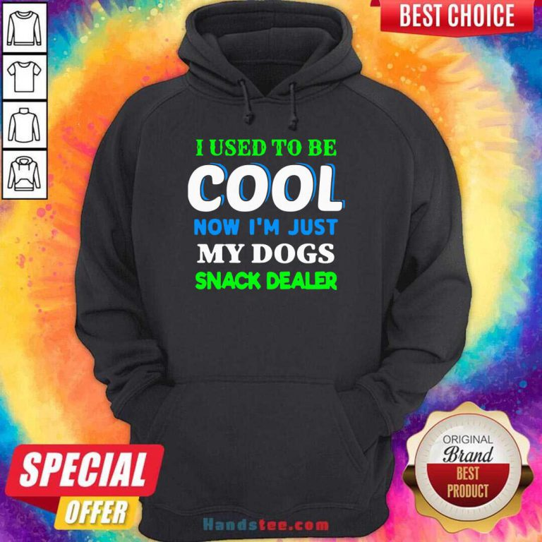 I Used To Be Cool Now I'm Just My Dogs Snack Dealer Hoodie- Design By Handstee.com