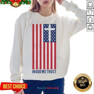 Premium In God We Trust American Flag Sweatshirt- Design By Handstee.com