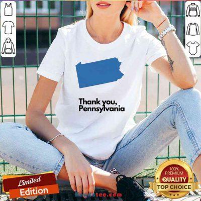 Premium Thank You Pennsylvania V-neck- Design By Proposetees.com