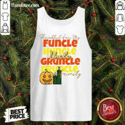 Premium Thankful For My Huncle Uncle Gruncle Druncle Family Pumpkin Halloween Tank-Top- Design By Handstee.com