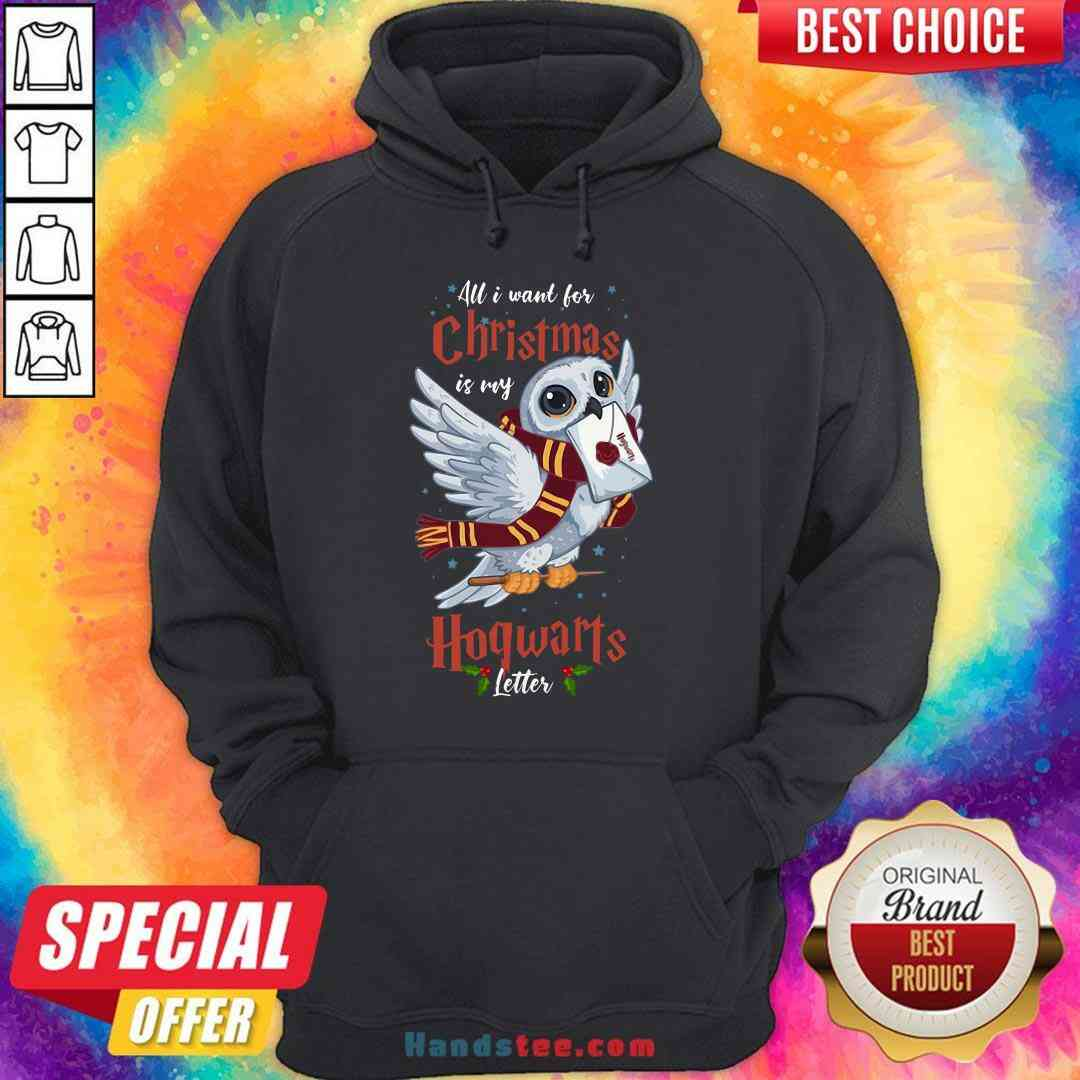 Pretty All I Want For Christmas Is My Hogwarts Letter Hoodie- Design By Handstee.com