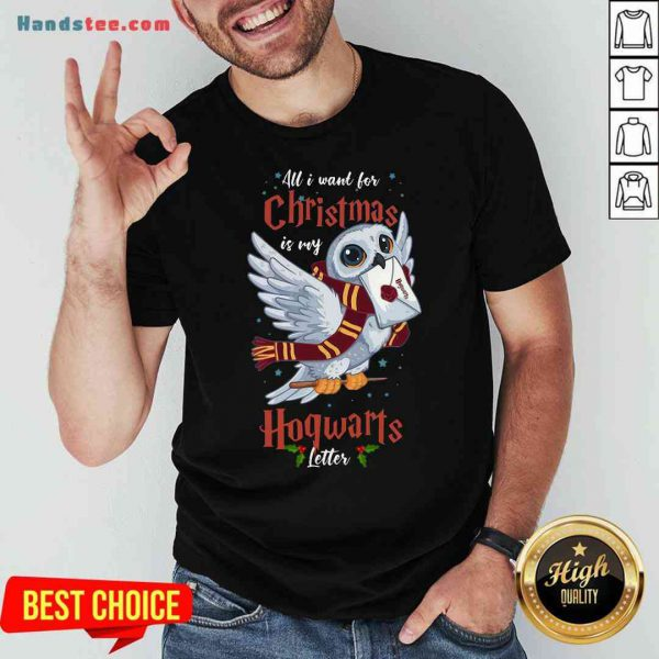 Pretty All I Want For Christmas Is My Hogwarts Letter Shirt- Design By Proposetees.com