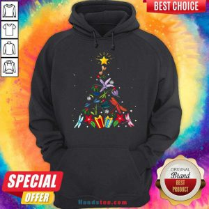 Pretty Dragonfly Christmas Tree Xmas Lover Gifts Hoodie- Design By Handstee.com