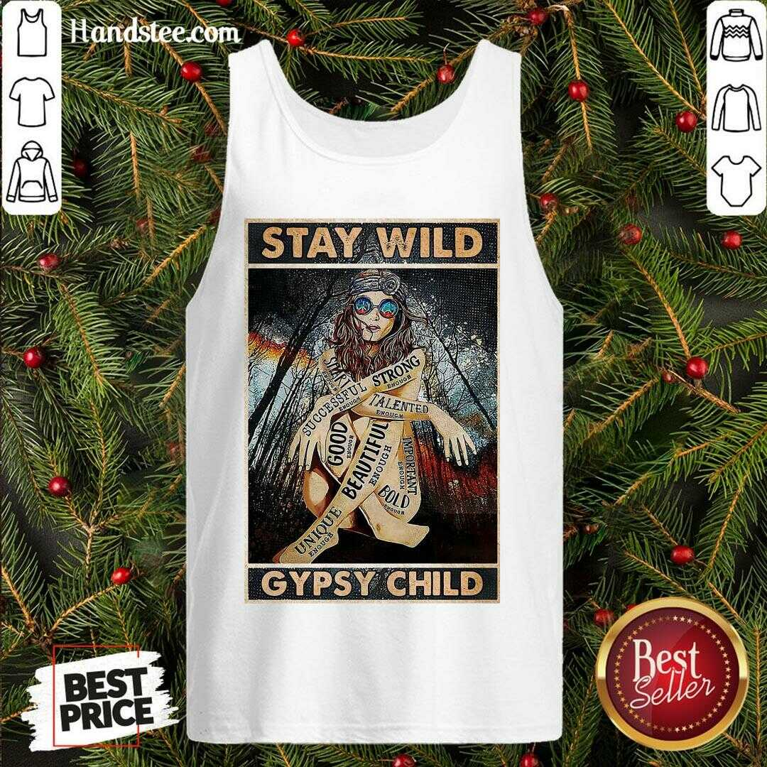 Pretty Girl Stay Wild Gypsy Child Vertical Poster  Tank Top- Design By Handstee.com