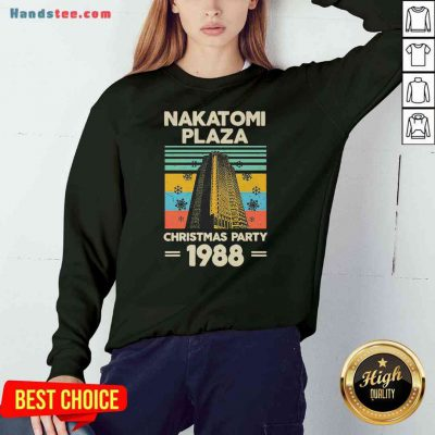 Pretty Nakatomi Plaza Christmas Party 1988 Snow Flower New Ver Sweatshirt- Design By Proposetees.com