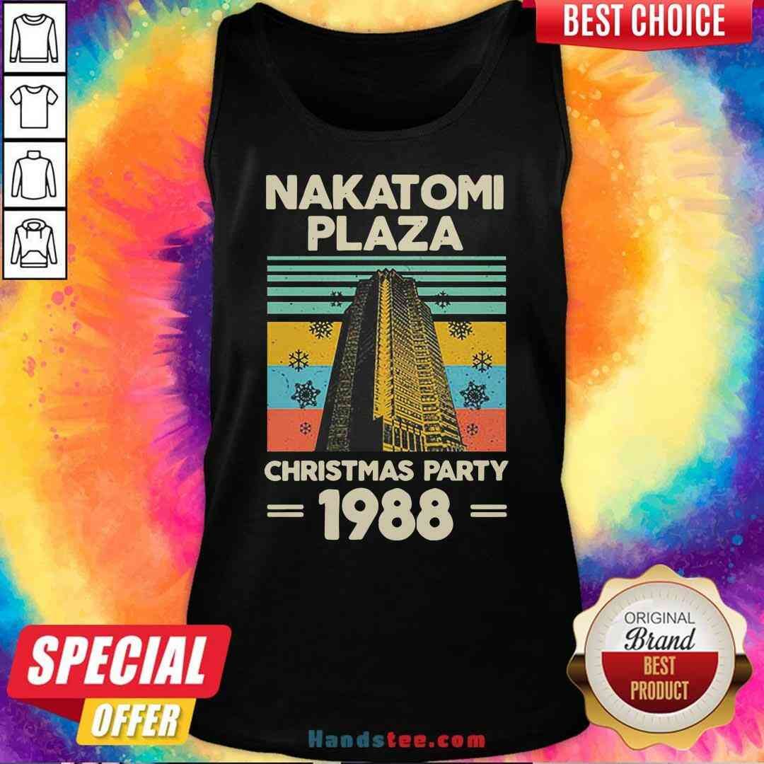 Pretty Nakatomi Plaza Christmas Party 1988 Snow Flower New Ver Tank-Top- Design By Handstee.com
