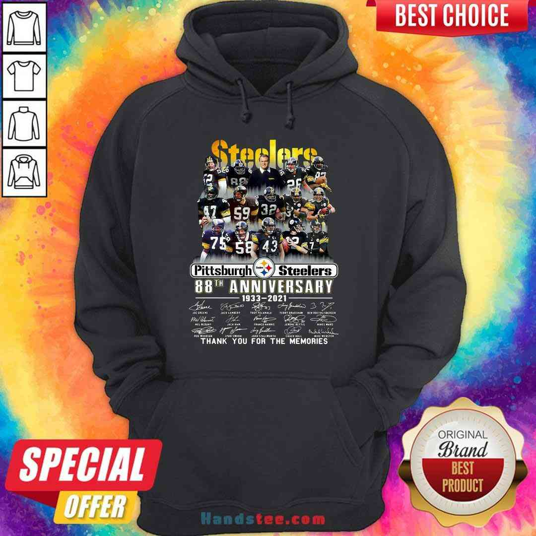 Pretty Pittsburgh Steelers 88th Anniversary Signatures Thank You For The Memories Hoodie- Design By Handstee.com
