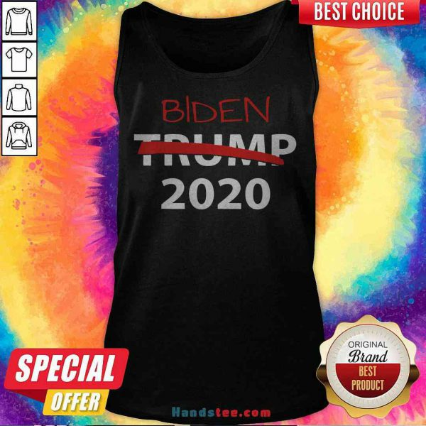 Hot Biden 2020 President Election Voting Anti-Trump Crossed Out Tank Top - Design By Handstee.com