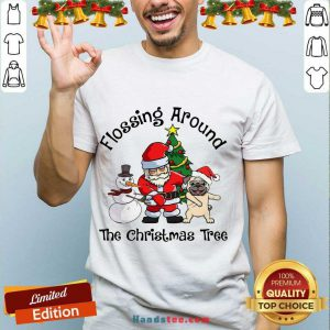 Top Flossing Around The Christmas Tree Shirt- Design By Handstee.com
