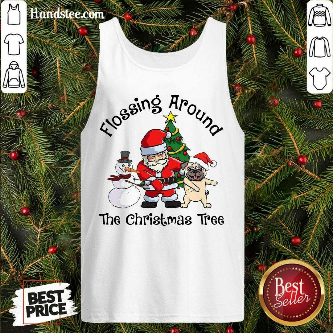 Top Flossing Around The Christmas Tree  Tank Top- Design By Handstee.com