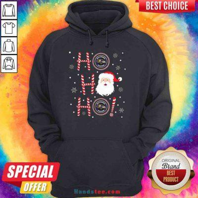 Top Santa Claus Ho Ho Ho Baltimore Ravens Christmas Hoodie- Design By Proposetees.com