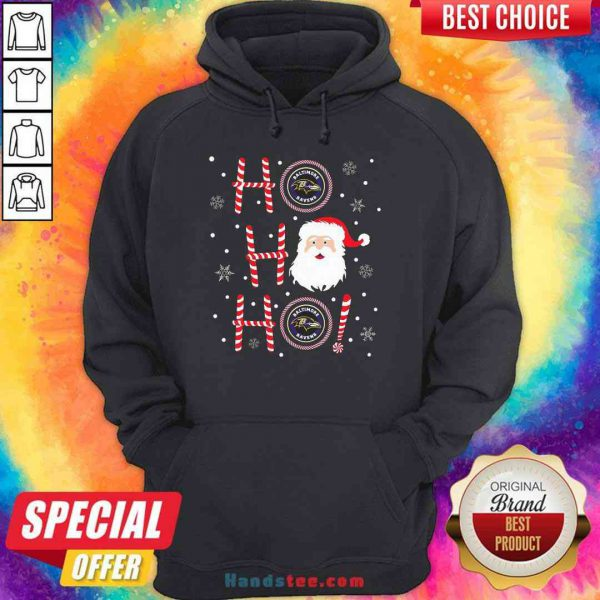Top Santa Claus Ho Ho Ho Baltimore Ravens Christmas Hoodie- Design By Proposetees.com