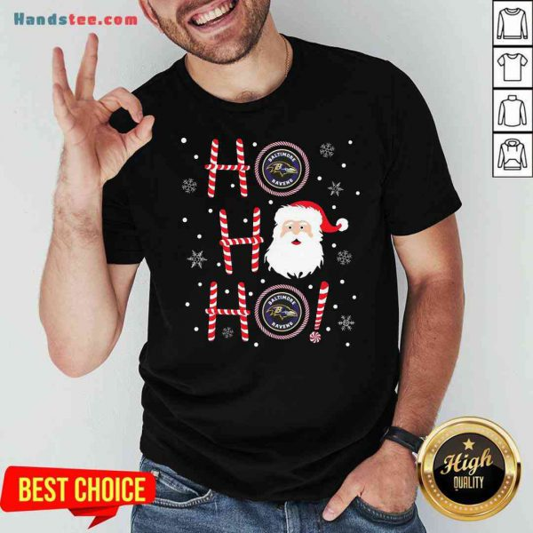 Top Santa Claus Ho Ho Ho Baltimore Ravens Christmas Shirt- Design By Proposetees.com