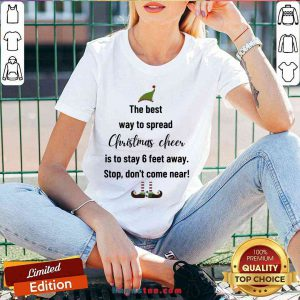 Nice The Best Way To Spread Christmas Cheer Elf V-neck - Design By Handstee.com