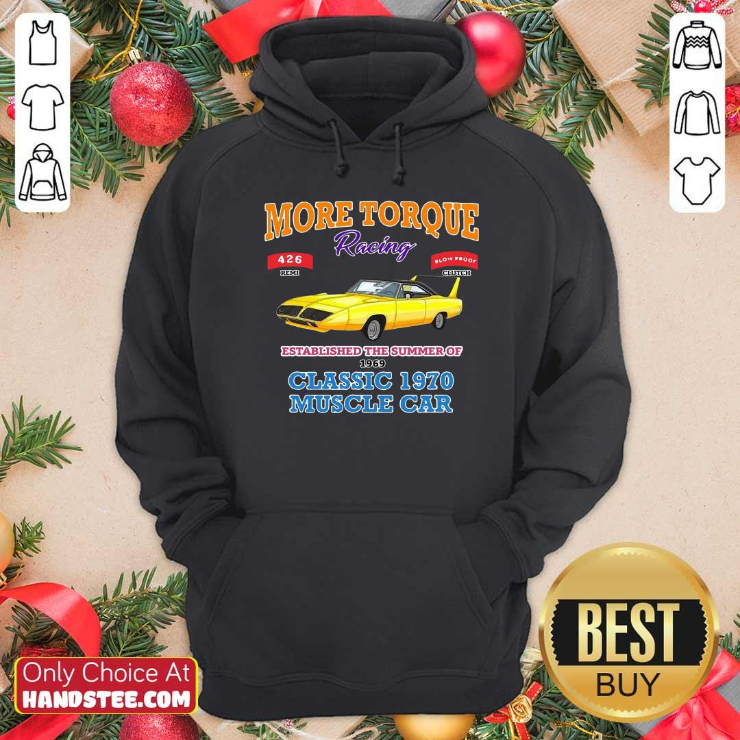 Awesome Classic Muscle Car Torque Garage Hot Rod Hoodie - Design by handstee.com