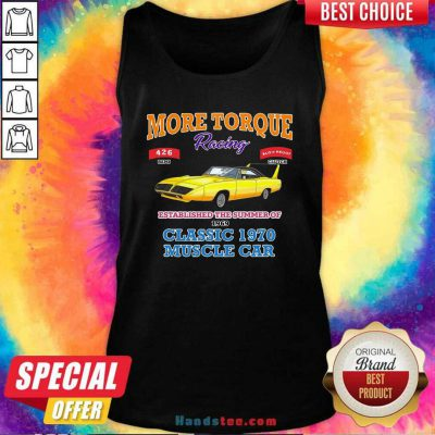 Awesome Classic Muscle Car Torque Garage Hot Rod Tank Top - Design by handstee.com