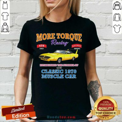 Awesome Classic Muscle Car Torque Garage Hot Rod V-neck - Design by handstee.com