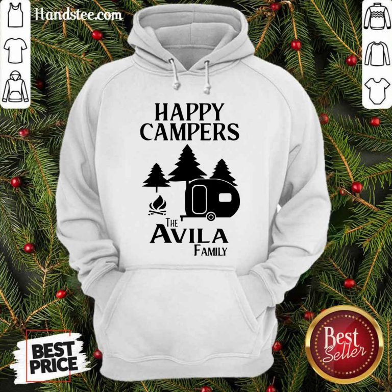 Awesome Happy Campers The Avila Family Hoodie - Design by handstee.com