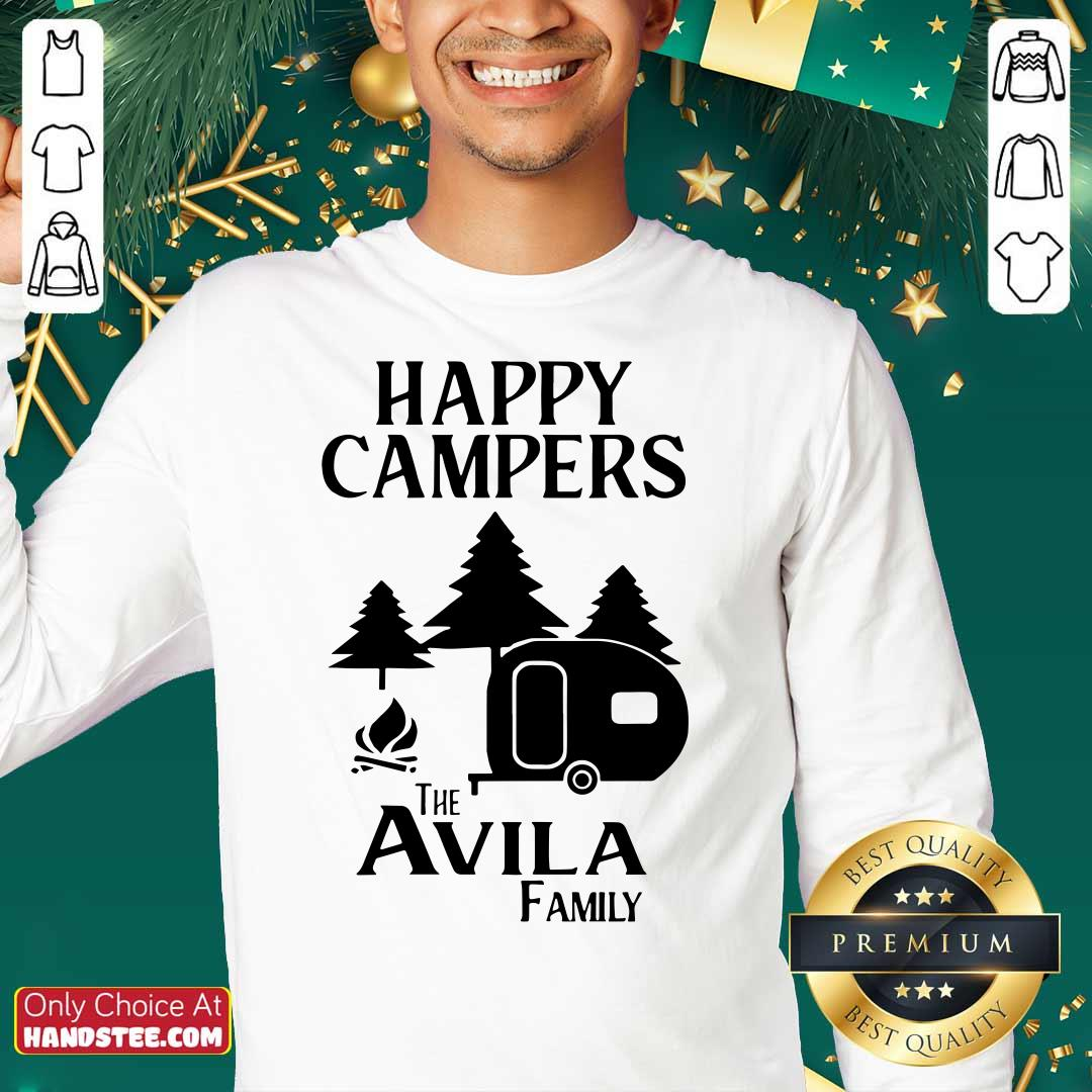 Awesome Happy Campers The Avila Family Sweatshirt - Design by handstee.com